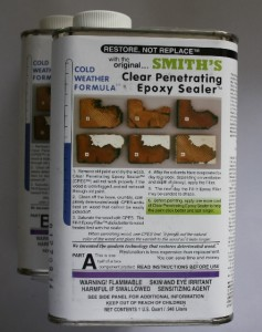 Clear Penetrating Epoxy Sealer. Smiths Genuine